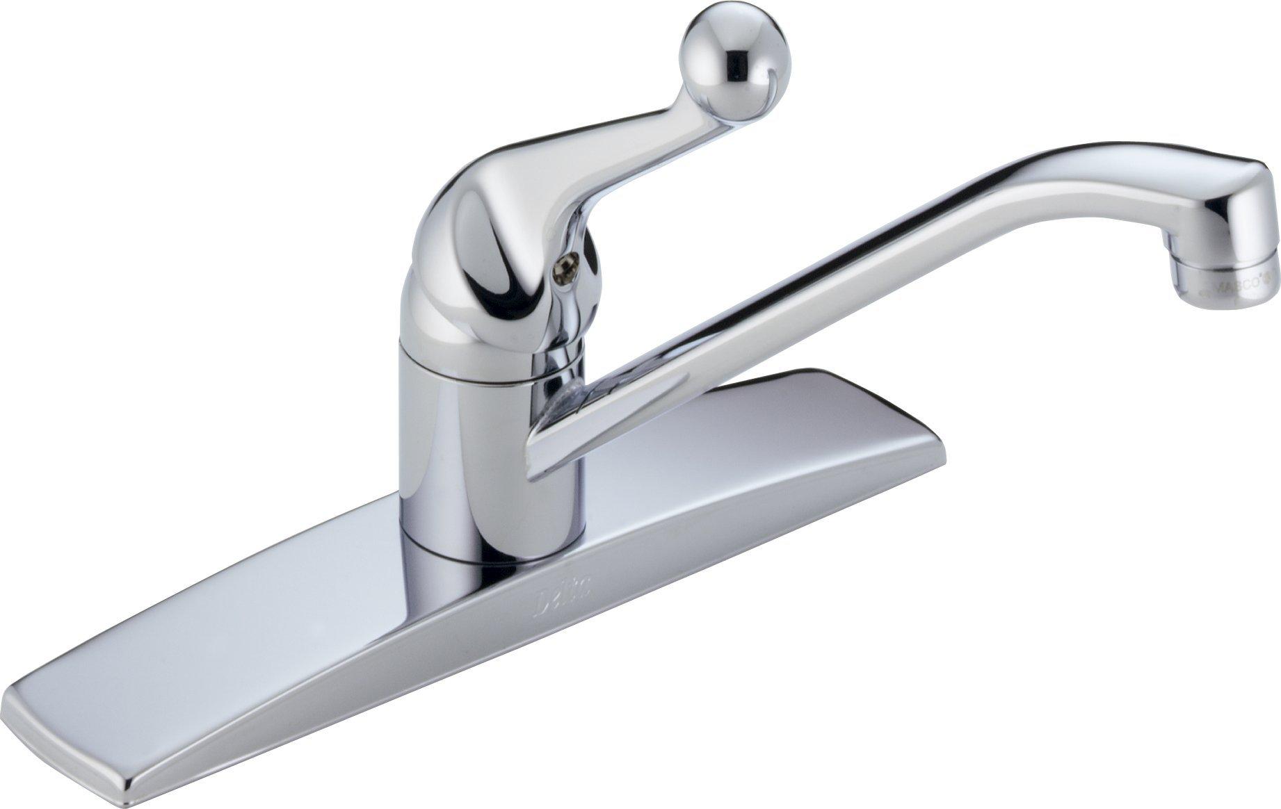 Delta Faucet 100LF-WF Classic, Single Handle Kitchen Faucet, Chrome