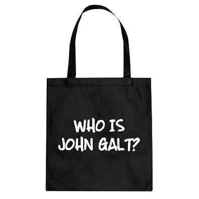 065f76f3dd Amazon.com: Tote Who is John Galt? Large Black Canvas Bag: Shoes