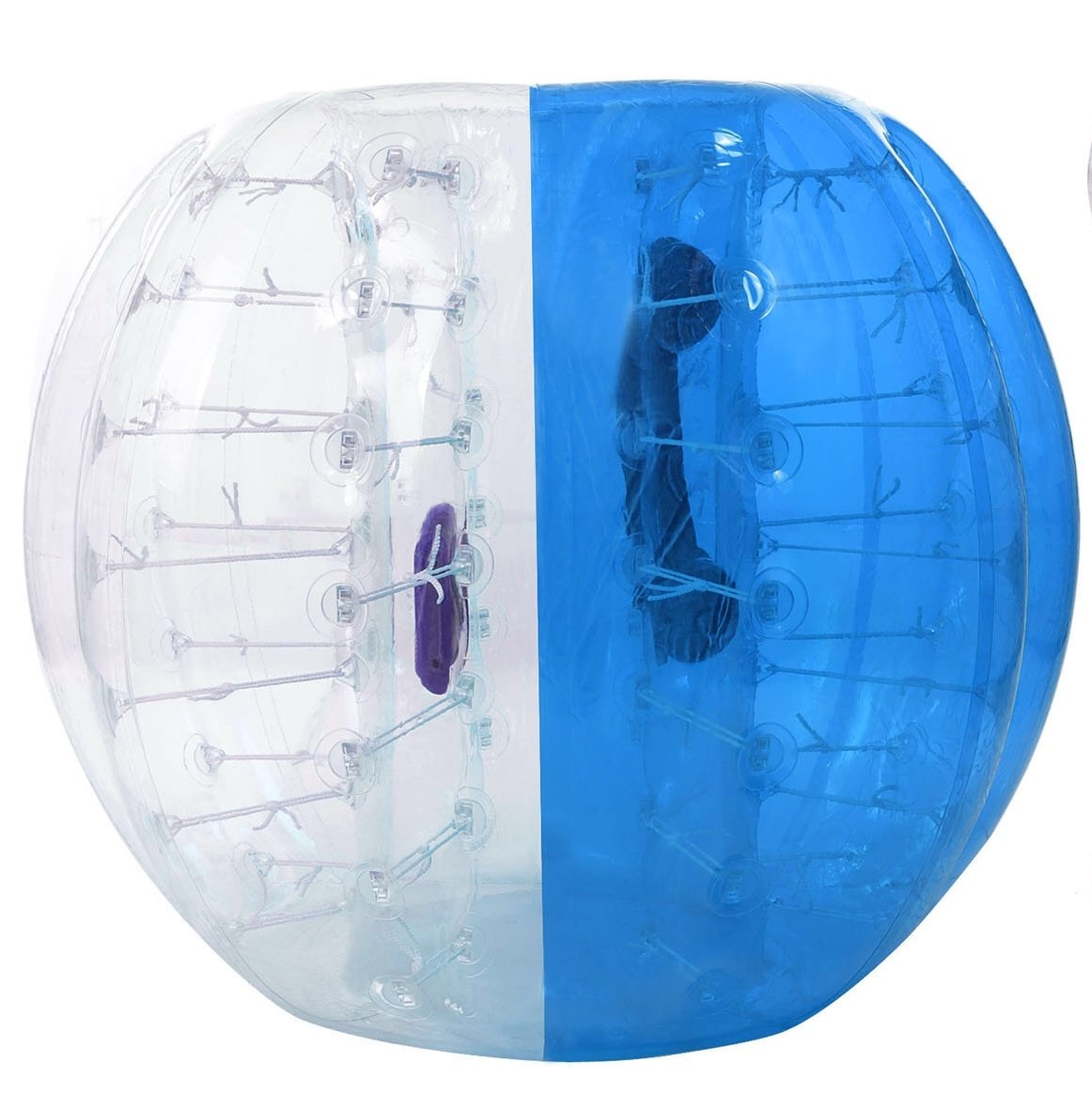 Oanon Inflatable Bumper Ball 1.2M 4FT/1.5M 5FT Diameter Bubble Soccer Ball Blow Up Toy, Inflatable Bumper Bubble Balls for Childs,Teens,Adults (White/Blue 1,5M) by Oanon
