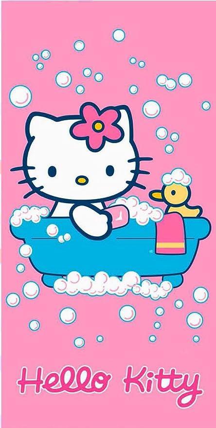 Hello Kitty - Toalla de Baño o de Playa Baño de Espuma - 76 x 152