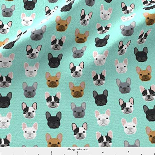 french bulldog fleece fabric - 6