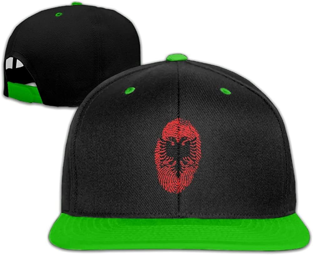 Humaoe Albania Flag Fingerprint Fashion Peaked Baseball Caps//Hats Hip Hop Cap Hat Adjustable Snapback Hats Caps for Unisex