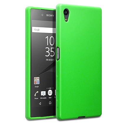 TERRAPIN, Kompatibel mit Sony Xperia Z5 Hülle, TPU Schutzhülle Tasche Case Cover - Grün EINWEG