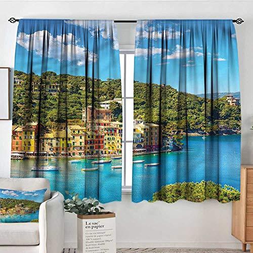 Sanring Italy,Kitchen Curtains Portofino Panoramic View 72