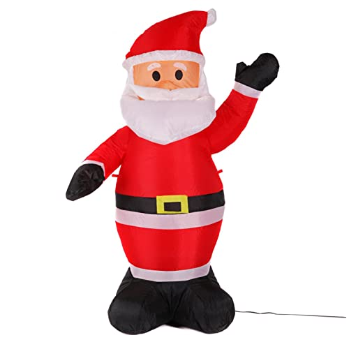 fashionlite 4 feet christmas xmas inflatable santa claus lighted blow up yard party decoration inble001