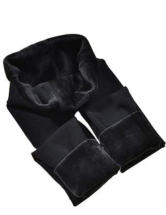 f6a861bb8e8795 CHRLEISURE Winter Leggings for Women - Warm Fleece Lined Leggings, Velvet  Thick Thermal Tights Black