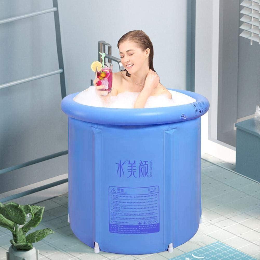 Easy-topbuy Inflatable Plastic Bathtub Portable PVC Bath Tub Thickened Freestanding Soaking Tub Inflatable Spa Bathtub For Adult Children Bathroom