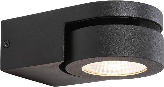 1-flammige Wandleuchte Wandlampe schwarz Metall//innen weiss mit Zugschalter LED