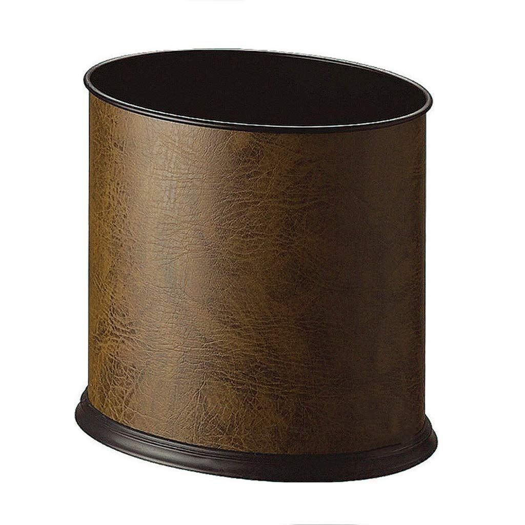 CSQ Oval Single-Layer Trash Can, Office Hotel Villa KTV Indoor Uncovered Trash Can 2619.526.5CM Indoor