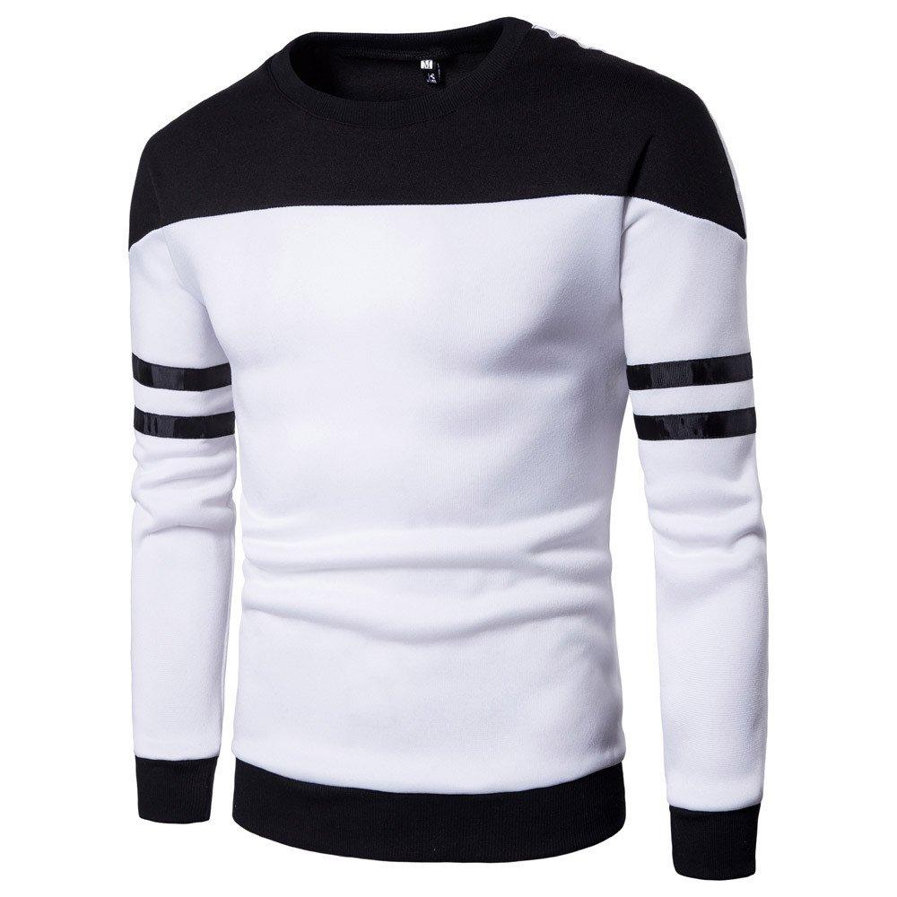 Zolimx Uomo Felpe Cappuccio, Maniche Lunghe Uomo Patchwork Felpa Pullover Top Tee Camicia Outwear