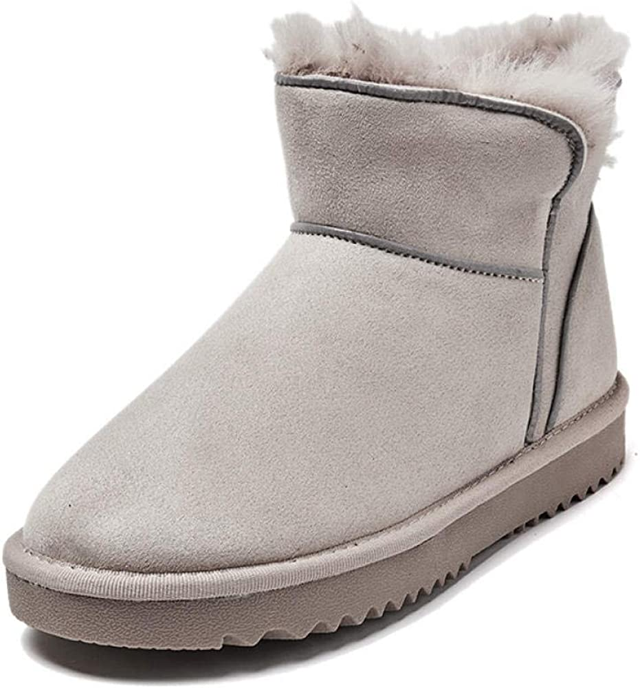 A 36 EU LIANGJIE Dicke warme Stiefel Mode reflektierende Schneeschuhe Winter Neue Wildleder Rohr Schneeschuhe Plus samt Dicke warme Schneeschuhe