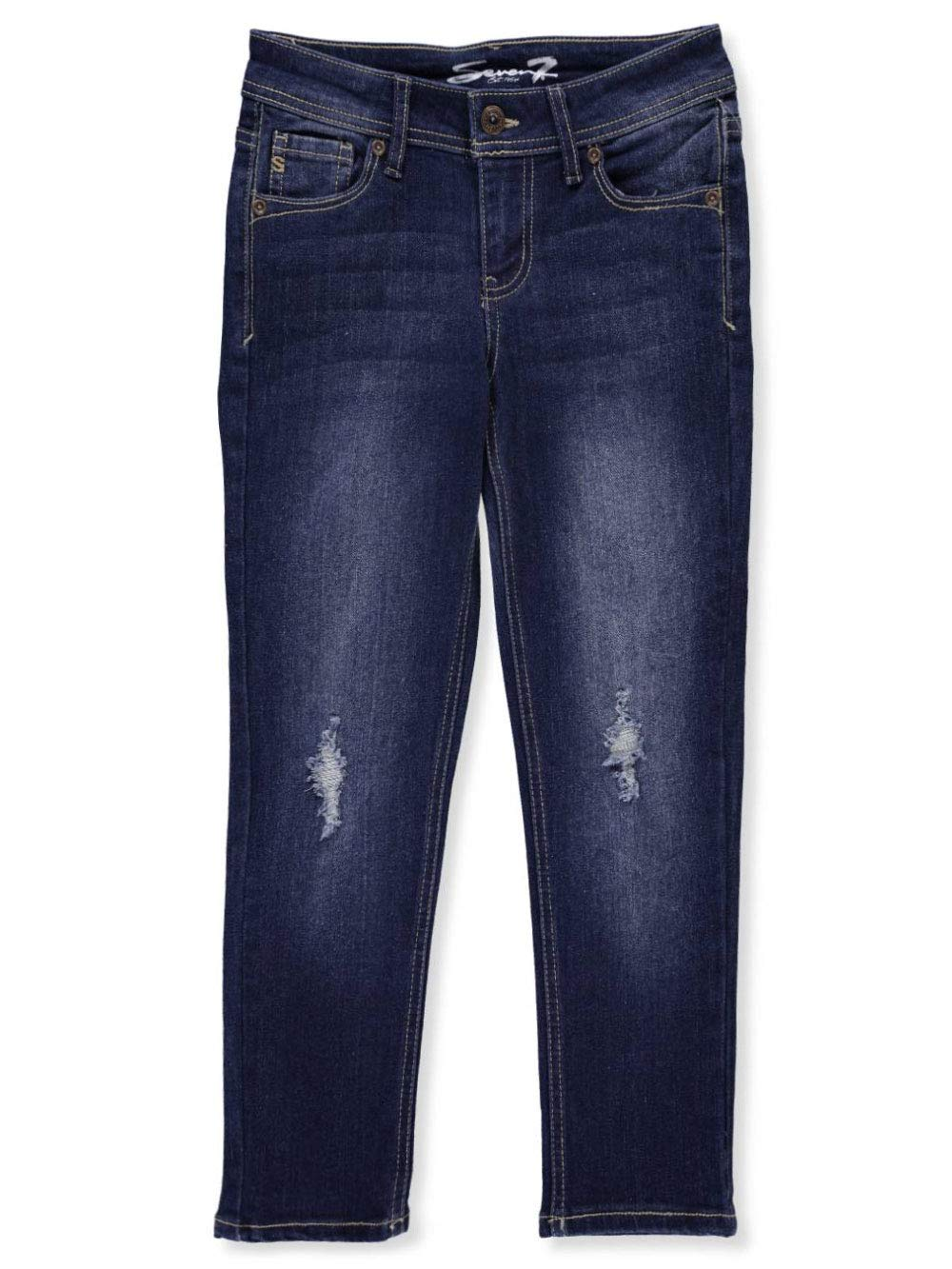Seven7 Big Girls' Jeans - Denim Blue, 7