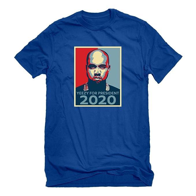 Indica Meseta Yeezy For President 2020 - Camiseta de Manga Corta para Hombre: Amazon.es: Ropa y accesorios