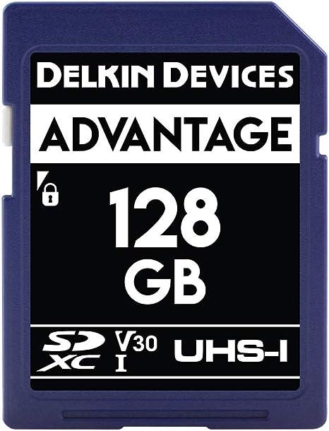 Amazon.com: Delkin 128 GB tarjeta de memoria SDXC 633 X (V30 ...