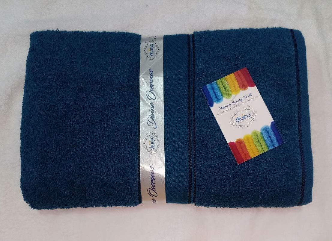 DIVINE OVERSEAS Elegance 100% Cotton/Soft/Highly Absorbent / 450 GSM / (Pack of 1 Medium Bath Towel (23