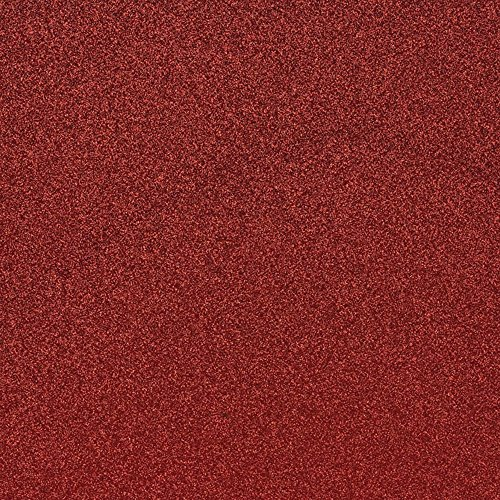 Red Glitter Cardstock, Paper Supply Station 15 identical sheets, 12x12, sticker free backing, 100% of paper is usable