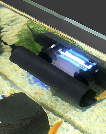Bassins,Bocal /À Poissons,8W Lampe UV Submersible Lumi/ère De Destruction Dalgues Imperm/éable pour Purifier leau des Aquariums CanKun St/érilisateur UV Aquarium