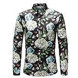 MYMSTORM Men Shirts allover Printed Fashion Style Spring Men's Button Down Shirt (L, CS37)