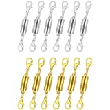 Pack of 12 Gold and Silver Color Magnetic Lobster Clasps for Jewelry. Strong Magnet Accessory for Necklace, Bracelet. DIY Fri