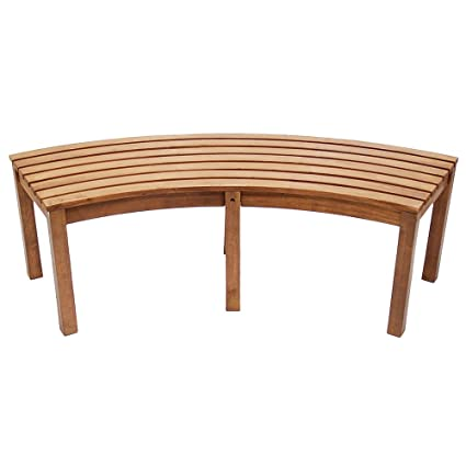 Incredible Achla Designs Curved Backless Bench Andrewgaddart Wooden Chair Designs For Living Room Andrewgaddartcom