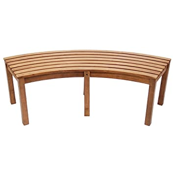 Amazoncom Achla Designs Curved Backless Bench Patio Lawn
