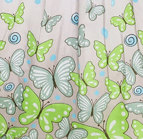 EY63 Sunny Fashion Big Girls' Dress Butterfly Green Double Bow Tie Summer Beach 7-8 by Sunny Fashion (Image #2)
