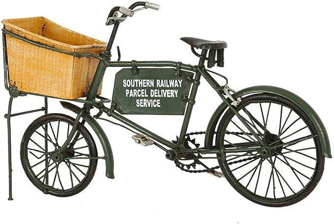 LIUFS Bicicleta Vieja Estilo Industrial Mobiliario Retro Antigua De Hierro Forjado De Bicicletas Modelo Decoración Fotografía Apoya Decoración For El Hogar (Size : 31x18x7cm): Amazon.es: Hogar