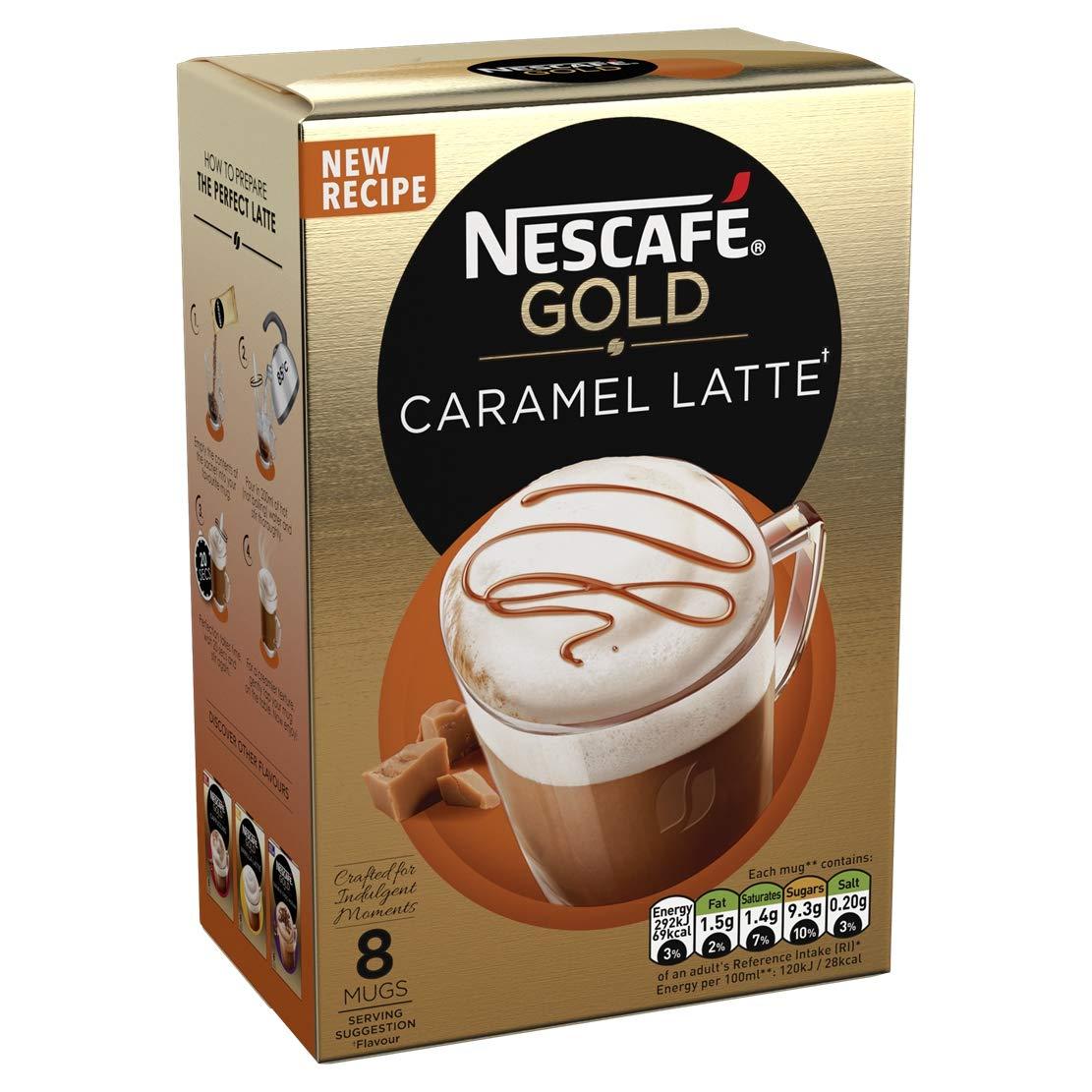 Nescafé Gold Caramel Latte Coffee 8 Sachets Pack Of 6 Total 48 Sachets
