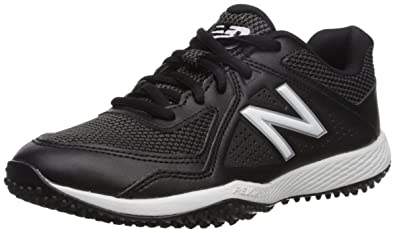 6358bc3f72f1 New Balance Boys' TY4040V4 Turf Baseball Shoe, Black, 2 Medium US Little Kid