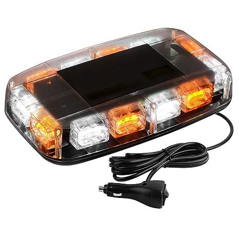 Yitamotor Upgrade Amber White Strobe Lights High Intensity Law Enforcement Emergency Hazard Warning Led Mini Bar Strobe Light With Magnetic Base For