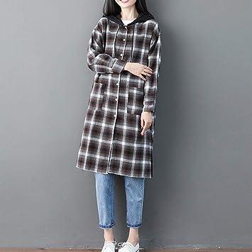 Amazon.com: Womens Coats Winter Besde Womens Plus Size Fashion Casual Warm Lightweight Outwear Boho Plaid Blouse Loose Long Sleeve Pocket Shirt Tops: ...