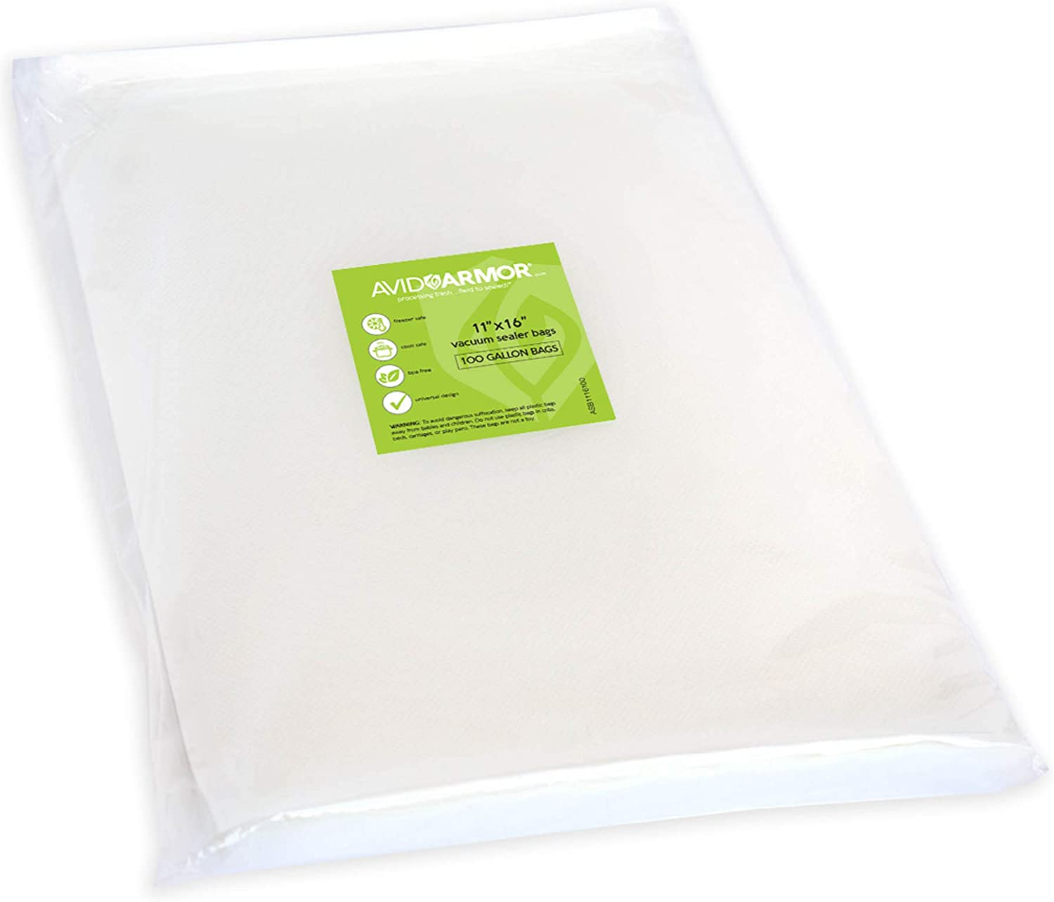 100 X Vacuum embossed bags 15x30 105 Micron for food