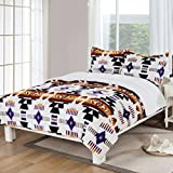 Southwest Design (Navajo Print) Queen Size 3pcs Set 16112 White