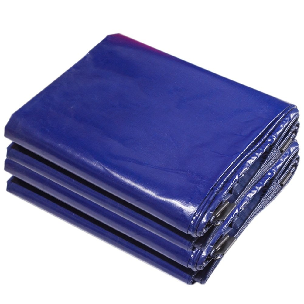 CHAOXIANG 厚い 折りたたみ可能 両面 防水 耐寒性 シェード アンチサン 耐摩耗性 耐食性 防湿性 軽量 PVC 青、 600g/m 2、 10サイズ (色 : 青, サイズ さいず : 5×6m) B07DC5L38Y  青 5×6m