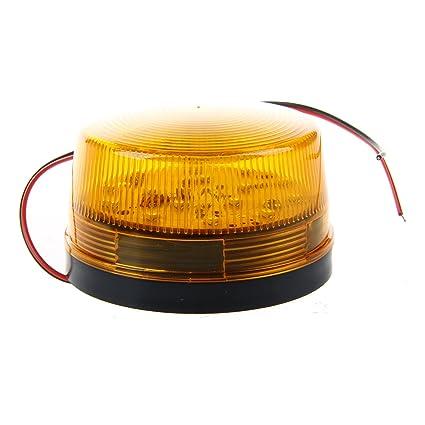 SODIAL 12V Alarma de seguridad LED Luz intermitente azul ...