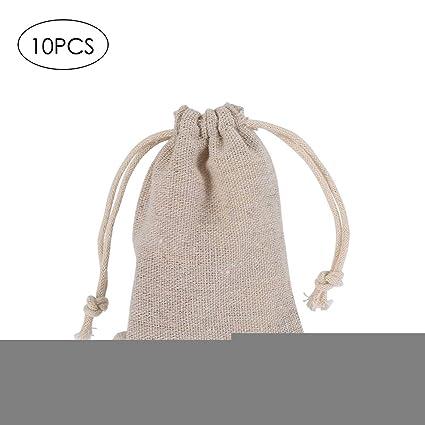 Rotekt Bolsas de Regalo con cordón, 10 Bolsas de Lino para ...