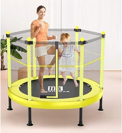 LSYOA Interior/Exterior Rebounder Trampolín, Cama elástica Infantil con Recinto Fitness Trampolín de Jardín para niños Ideal para cumpleaños, 270 kg de Carga,Yellow_101x101x120cm: Amazon.es: Hogar