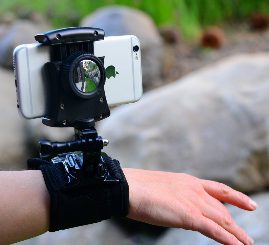 Pixlplay – Smartphone Wristband Holder for iPhone and Android with Swivel & Rotation Ideal for Hiking, Biking, Jogging & Selfies