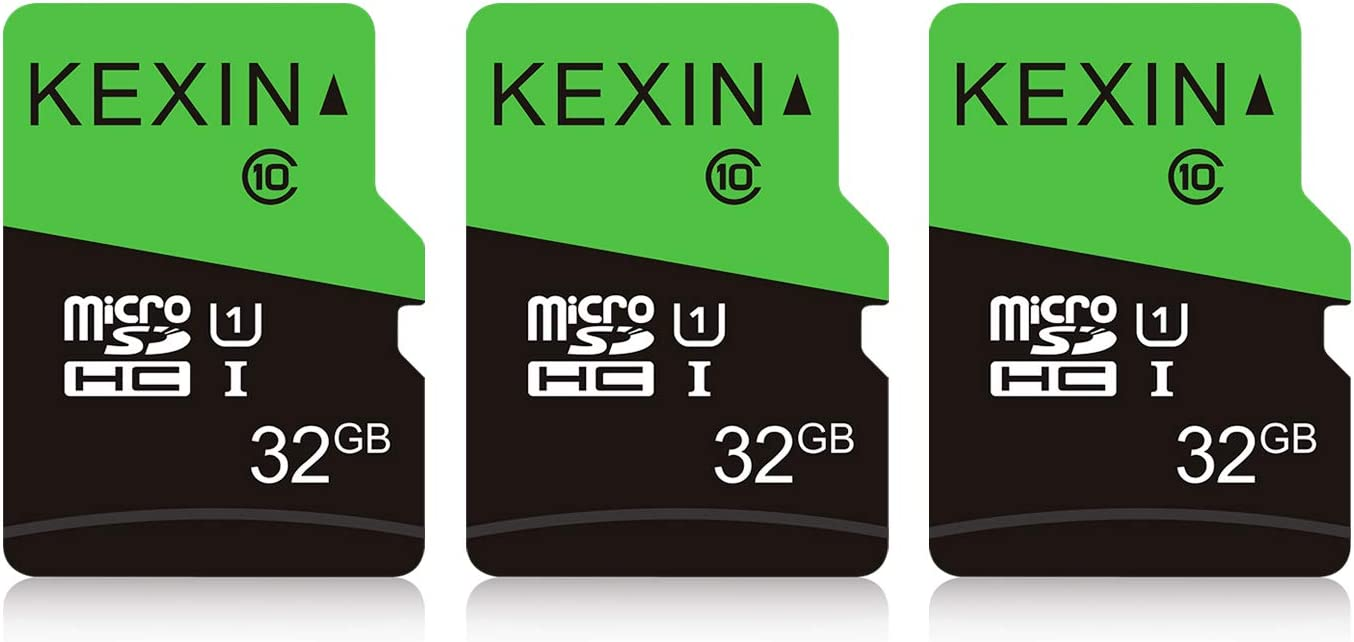 KEXIN 3 Pack 32GB Micro SD Card Memory Card MicroSDHC UHS-I Memory Cards Class 10 High Speed Card, C10, U1, 32 GB 3 Pack