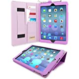 iPad Air (iPad 5) Case, Snugg™ - Executive Smart Cover With Card Slots & Lifetime Guarantee (Purple Leather) for Apple iPad Air (2013)