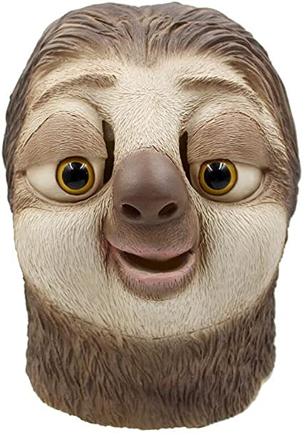 Costume Party SLOTH Head Fun Mask for Adults & Children