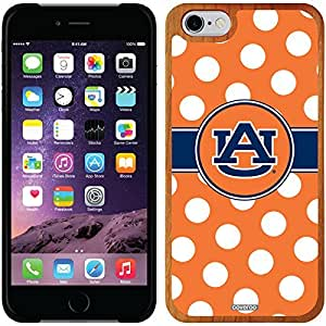 fashion case iphone 4s Madera Wood Thinshield Case with Auburn University Polka Dots Design
