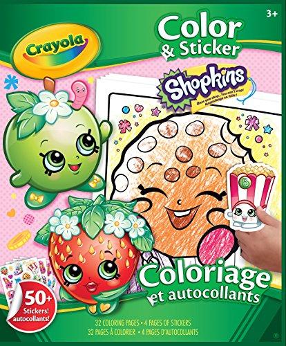 Crayola Shopkins Color Sticker Book