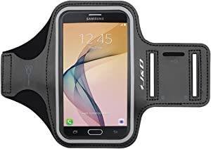 J&D Armband Compatible for Galaxy Note 10/Xcover 4S/J7 2017/J7 Prime/J7 V/J7 Perx/J7 Sky Pro/J3 2018/J3 V 3rd Gen/J3 Achieve/J3 Star, Sports Running Armband w/Key Holder Slot & Earphone Connection
