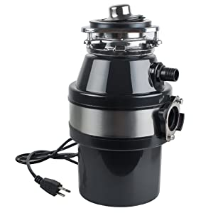 Garbage Disposal Vinmax Electric Rubbish Crusher for Household & Kitchen Food Waste Processor with Cord 110V
