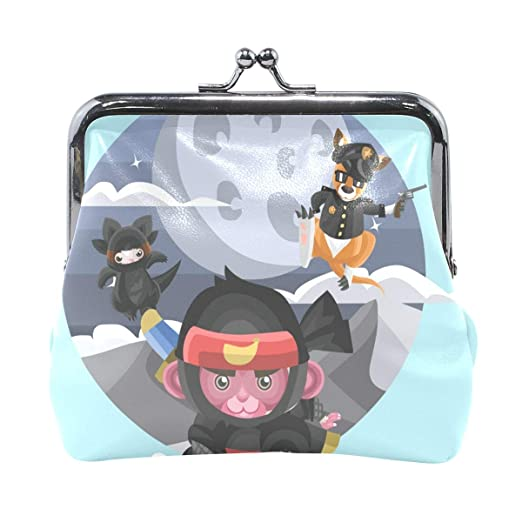 d1bfa5440774 Coin Purse Animals In Different Costumes Womens Wallet Clutch Bag ...