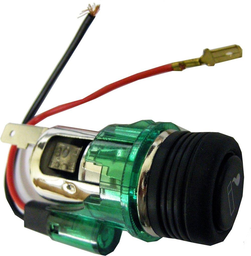 Int/égr/é r/ésistant /à la chaleur en c/éramique Protector Techniks Lig01/universel allume-cigare lumineux facile /à installer les pi/èces inclus