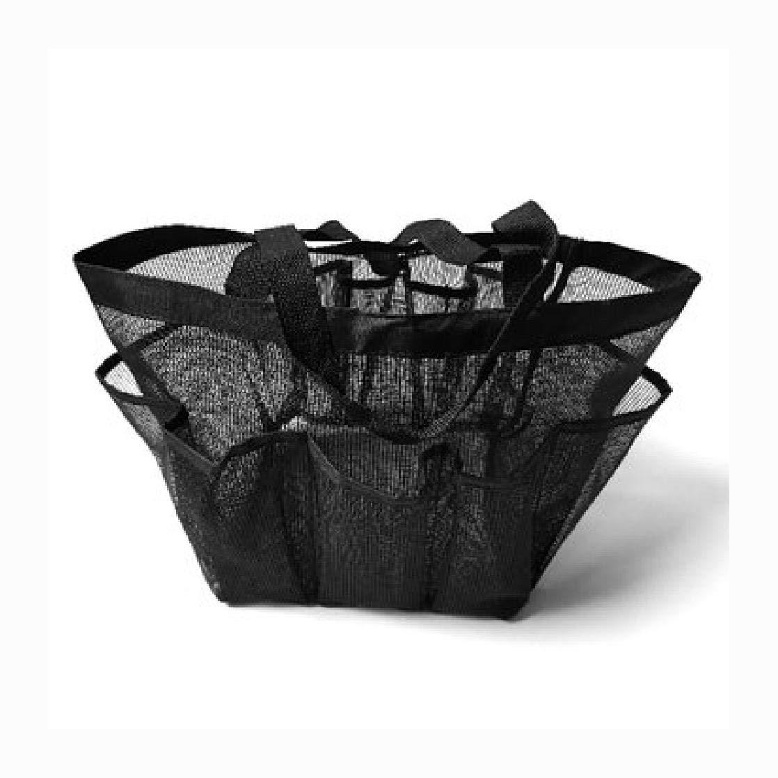 HEATAPPLY Travel Pouch Bag, Utendørs Reise Portable Mesh Beach Håndveske Tote Leker Storage Bag Pack Organizer Veske, Black by HEATAPPLY