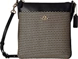 COACH Women's Exploded Rep Courier Crossbody Milk/Black Crossbody Bag