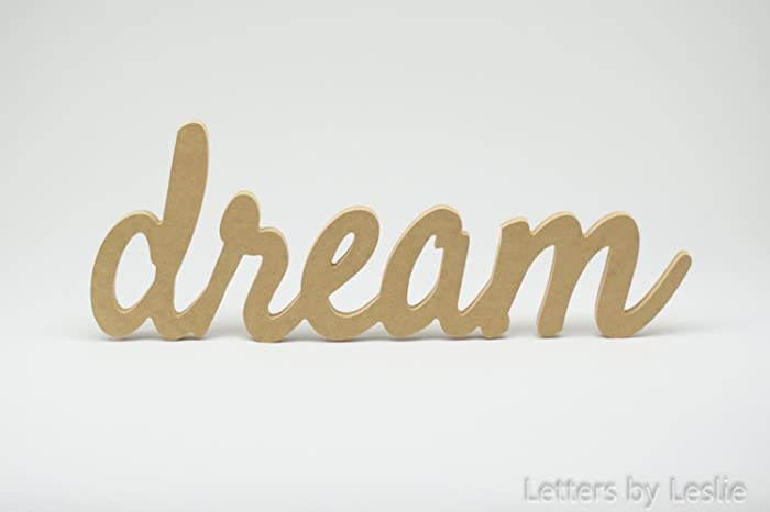 Dream Wall Sign, Wood Dream Sign, Dream Letters, Dream Decor, Bedroom Wall